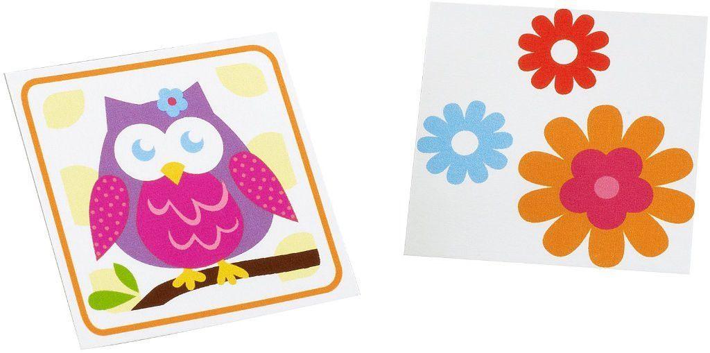 owl blossom tattoos [set of 8] Case of 15