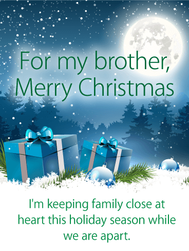 thoughtful christmas card for brother if you and your brother will be apart this holiday season now is the time to choose a very special card to wish him - And This Christmas Will Be A Very Special Christmas