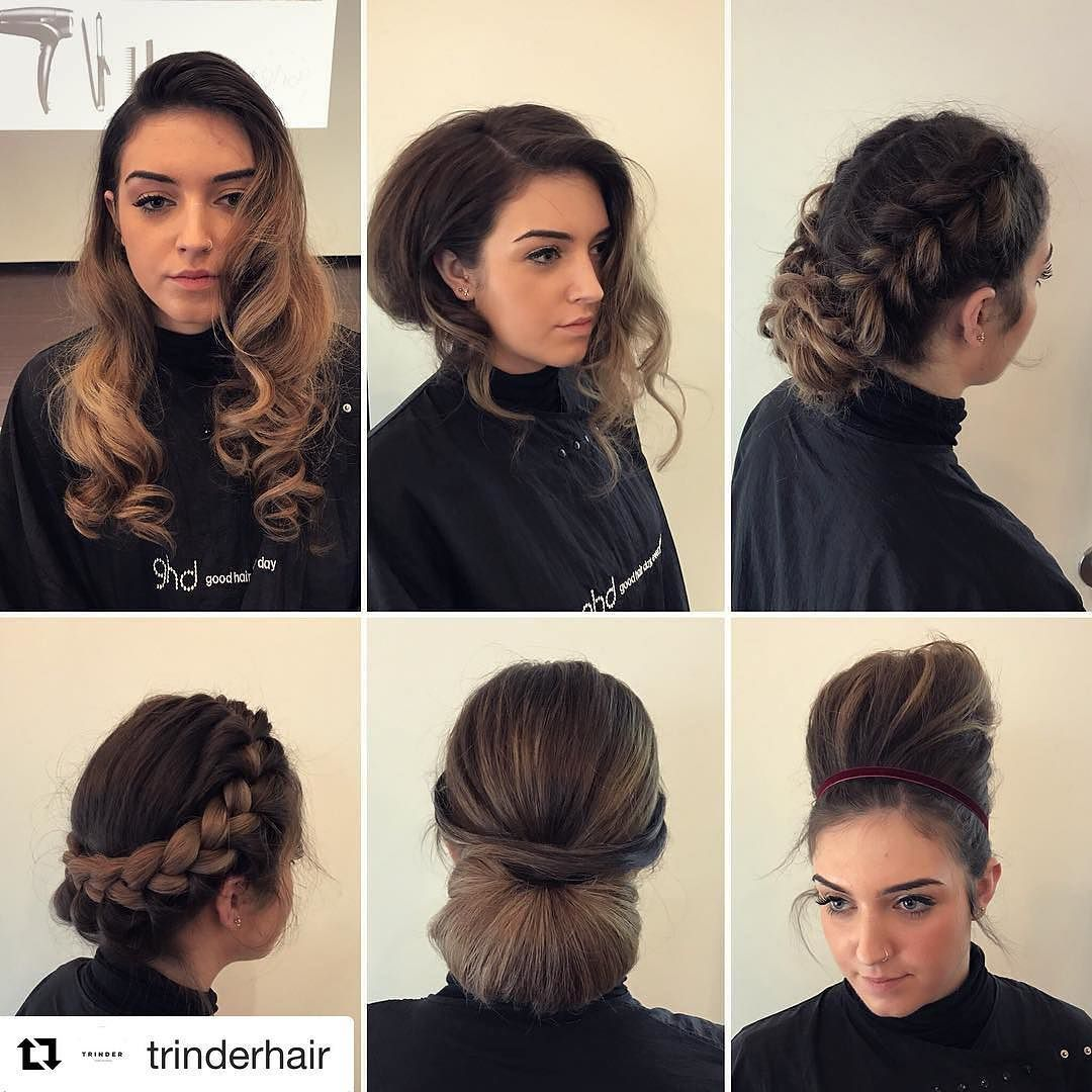 We love a training day-iconic Red Carpet looks- @ghdhair #sharethesecret #education #ghd #ghdcontour #hairup #waves #beehive #braids #chignon