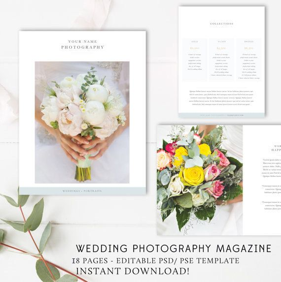 Wedding Photographer Magazine Template - Wedding Price List - wedding price list