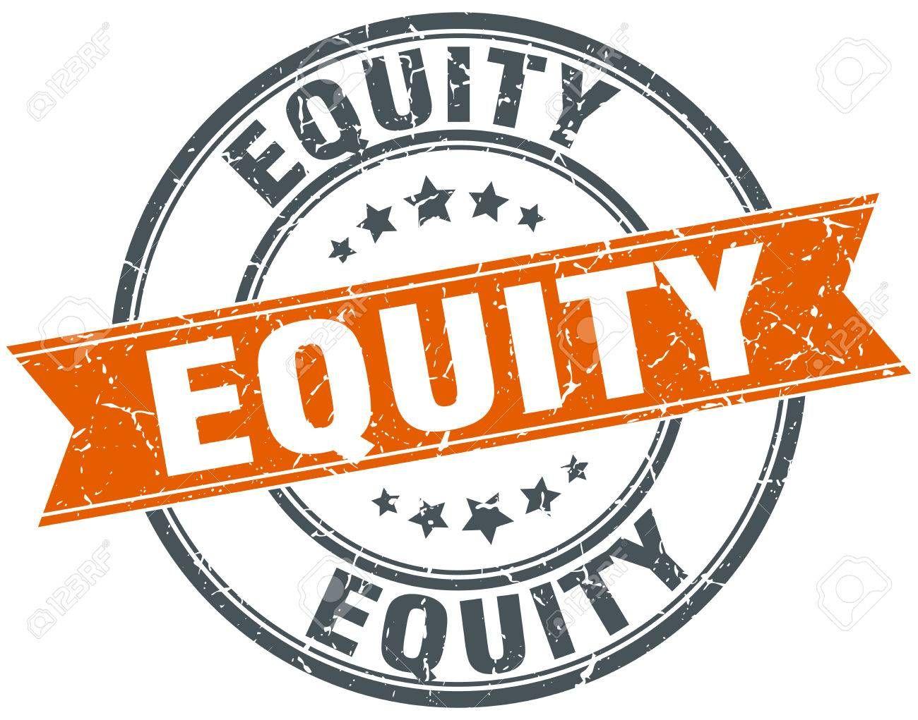 equity round grunge ribbon stamp , sponsored, grunge,