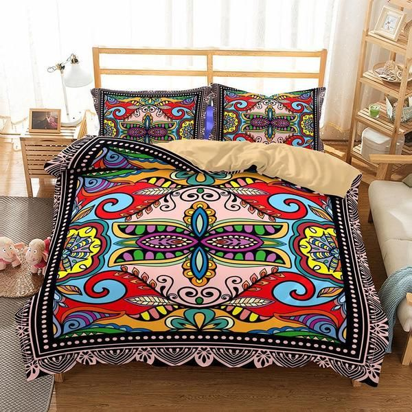 Bedroom Art Supplies: Home Supplies Bohemian Themed Print Sets 3 Sets Of Bedding