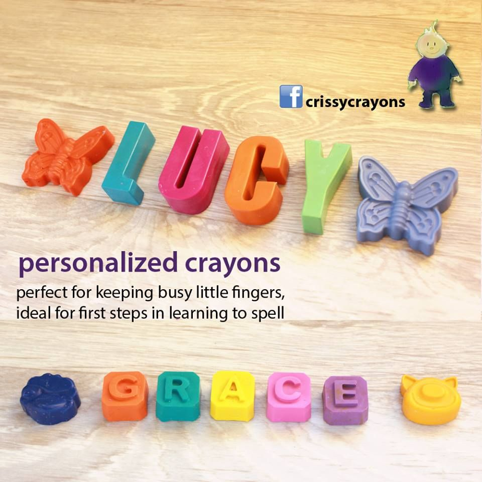 personalized custom crayons,non toxic #CraftHour #children presents https://www.facebook.com/crissycrayons