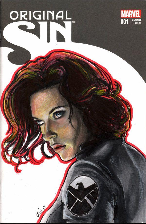 Black Widow sketch cover by whu-wei on DeviantArt