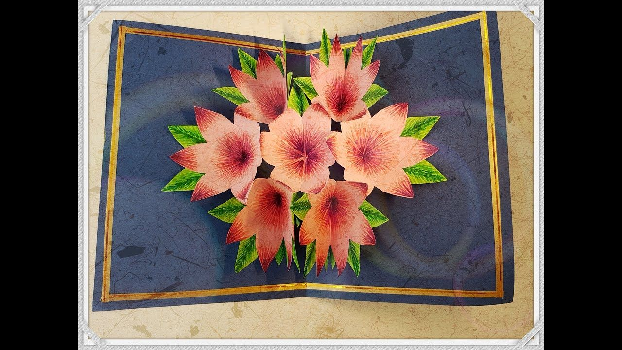 Diy 3d flower pop up greeting card 3d diy 3d flower pop up greeting card 3d m4hsunfo Image collections
