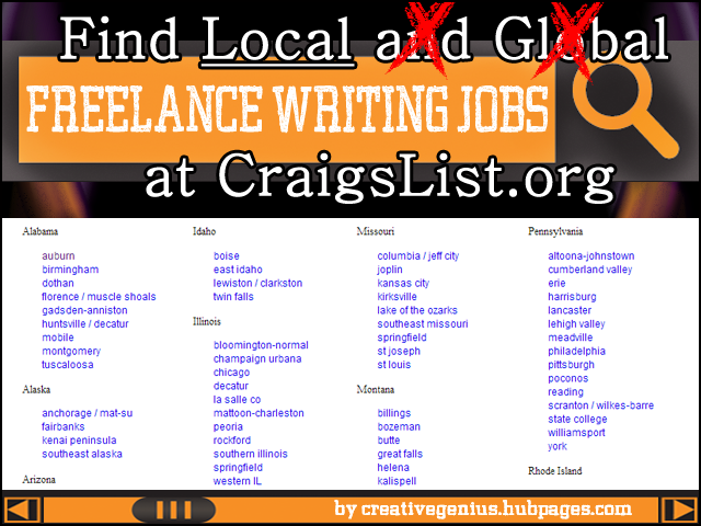 Learn How To Search Craigslist For Local Freelance Writing Jobs Writing Jobs Freelance Writing Freelance Writing Jobs