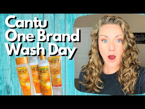 One Brand Wash Day With Cantu 2a 2b 2c Hair Youtube In 2020