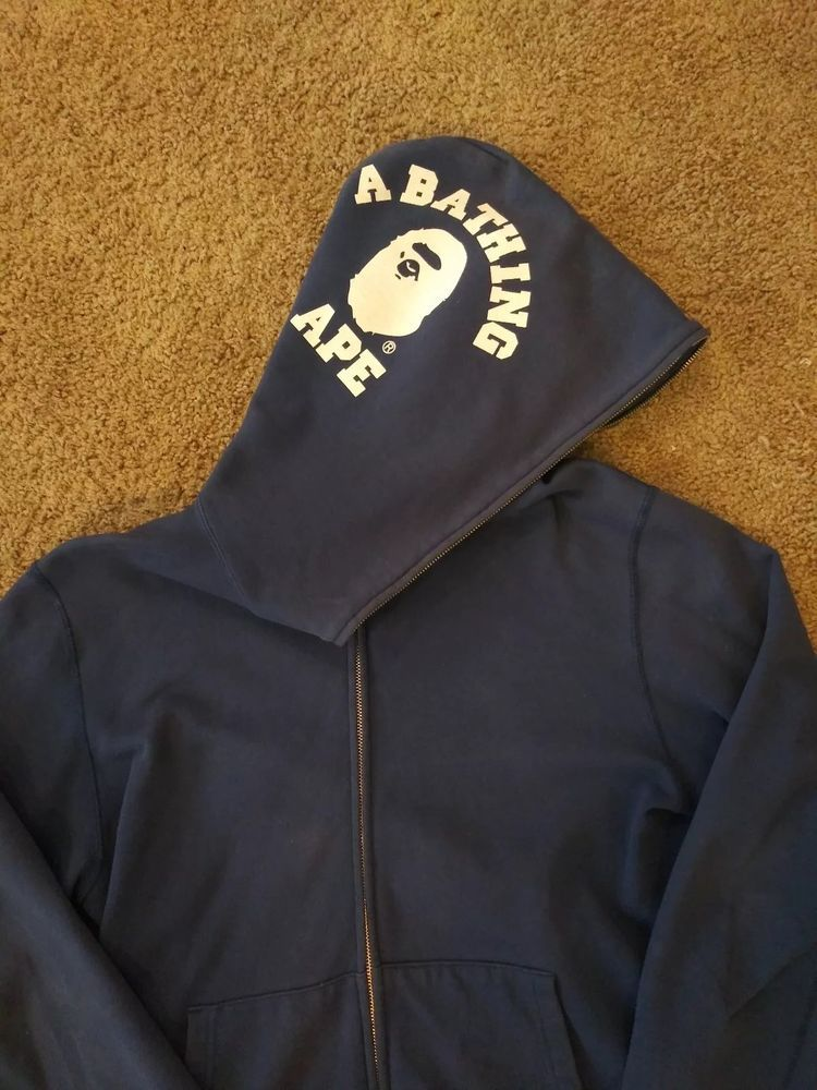 aae0bee463d5 A bathing ape full zip hoodie 100% authentic bape supreme college logo   fashion  clothing  shoes  accessories  mensclothing  activewear (ebay link)