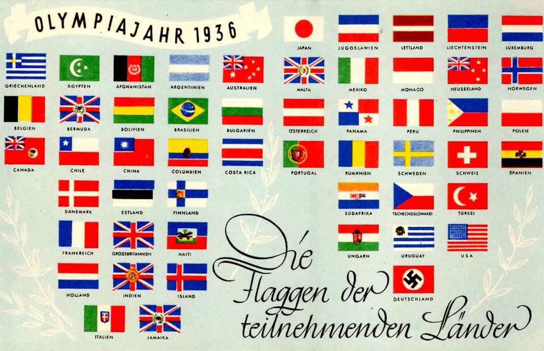 Pin by buffhistorybuff on Flags 1936 olympics, Olympic