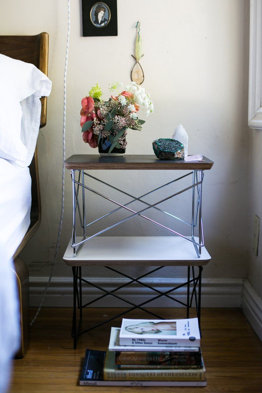 Image via Apartment Therapy | Modernica Mini Wire Tables | http://modernica.net/mini-wire-table.html