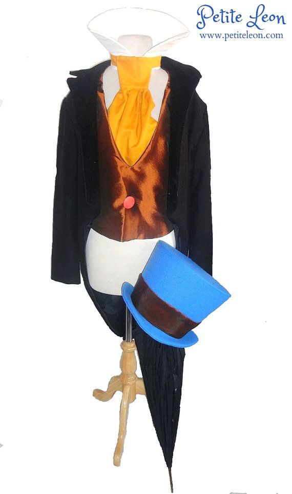 Cricket from Pinocchio Costume with Wellington Style Top Hat