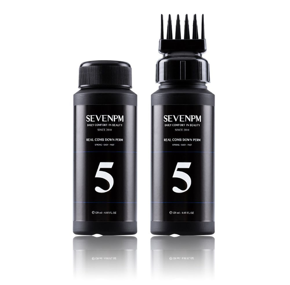 SEVENPM Real Comb Men's Self Styling Side Hair Down Perm 4