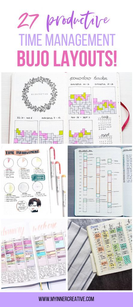 35+ Time Tracker Bullet journal layouts to change your thinking about time management!