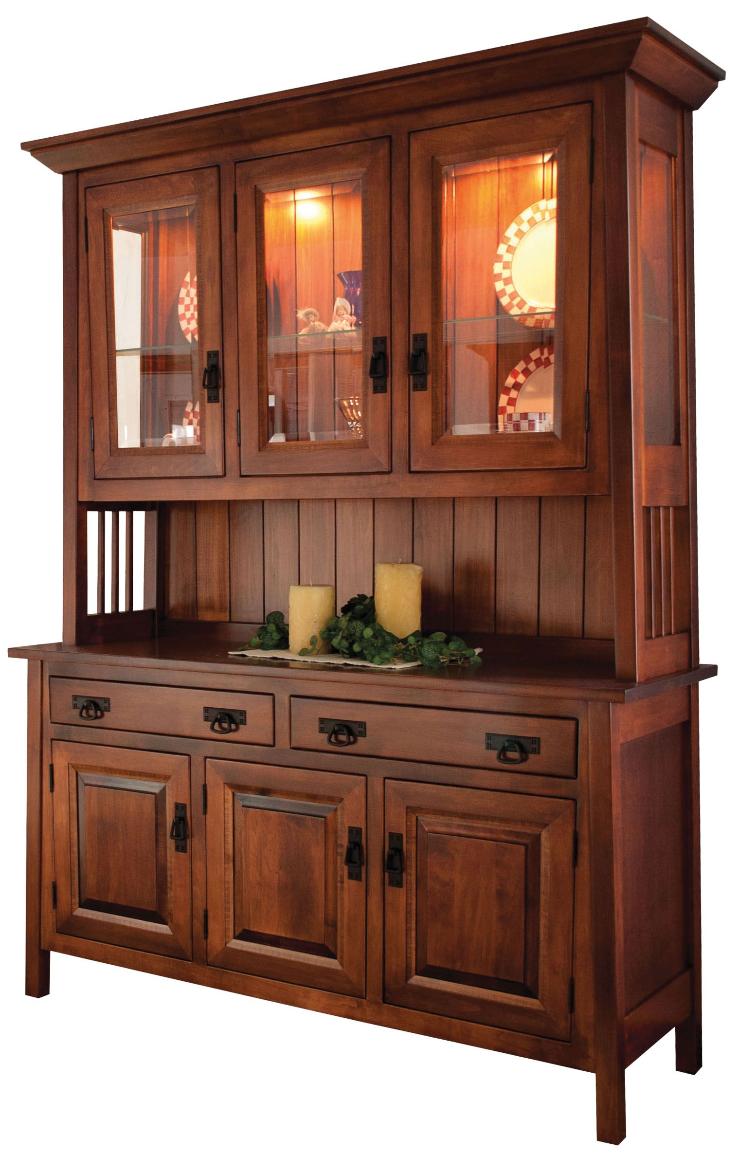Dining Room Furniture Hutch Fascinating 3Door Hutches  Dining Room Furniture  Amish Oak In Texas  Misc Design Decoration
