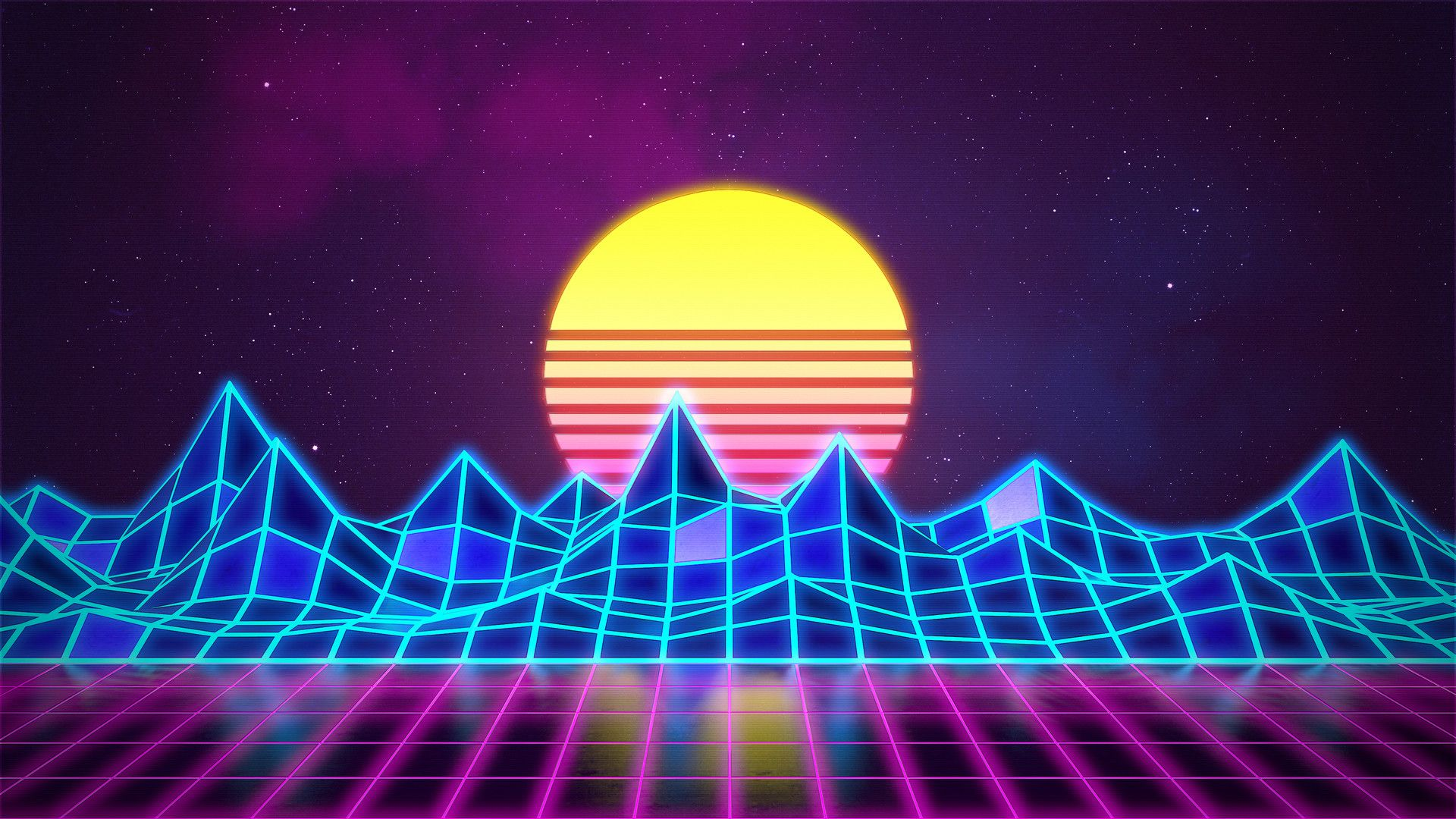 Artstation Synthwave Neon 80 S Background Rafael De Jongh Synthwave Neon Neon Backgrounds 80s Background