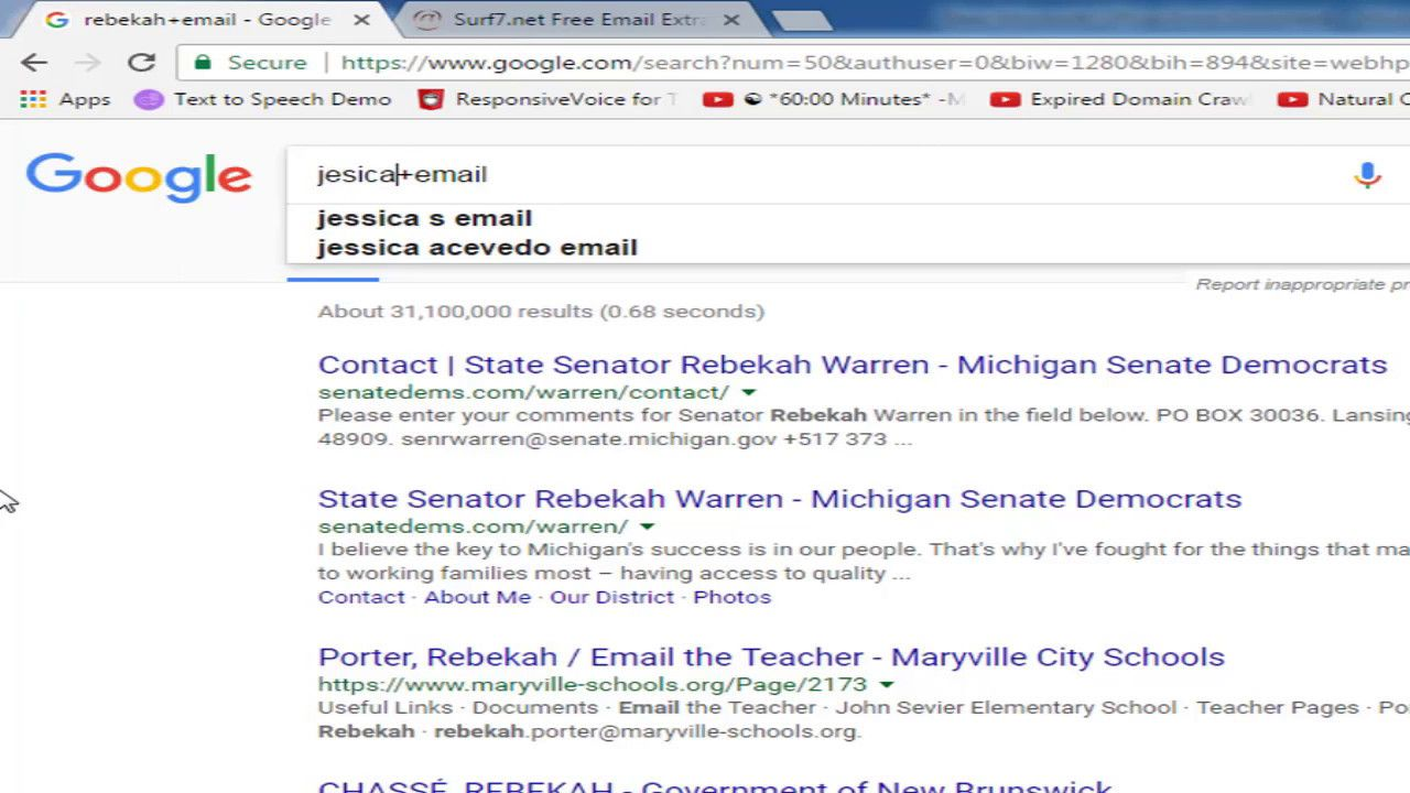 How to find someones email address by google search (With