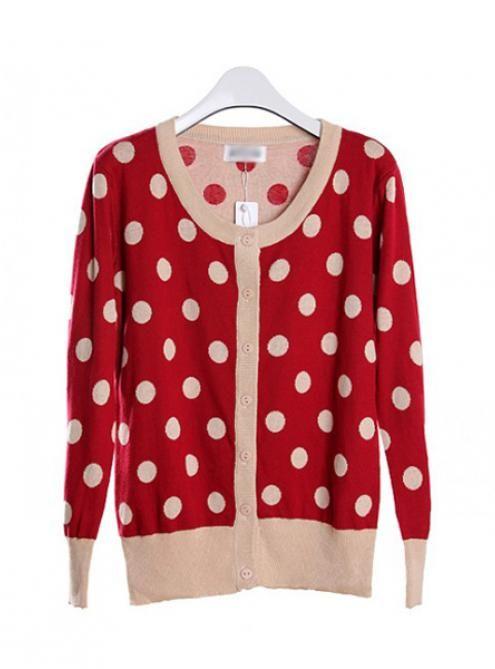 Vintage Red Polka Dot Sweater$39.00 | StyleCaster