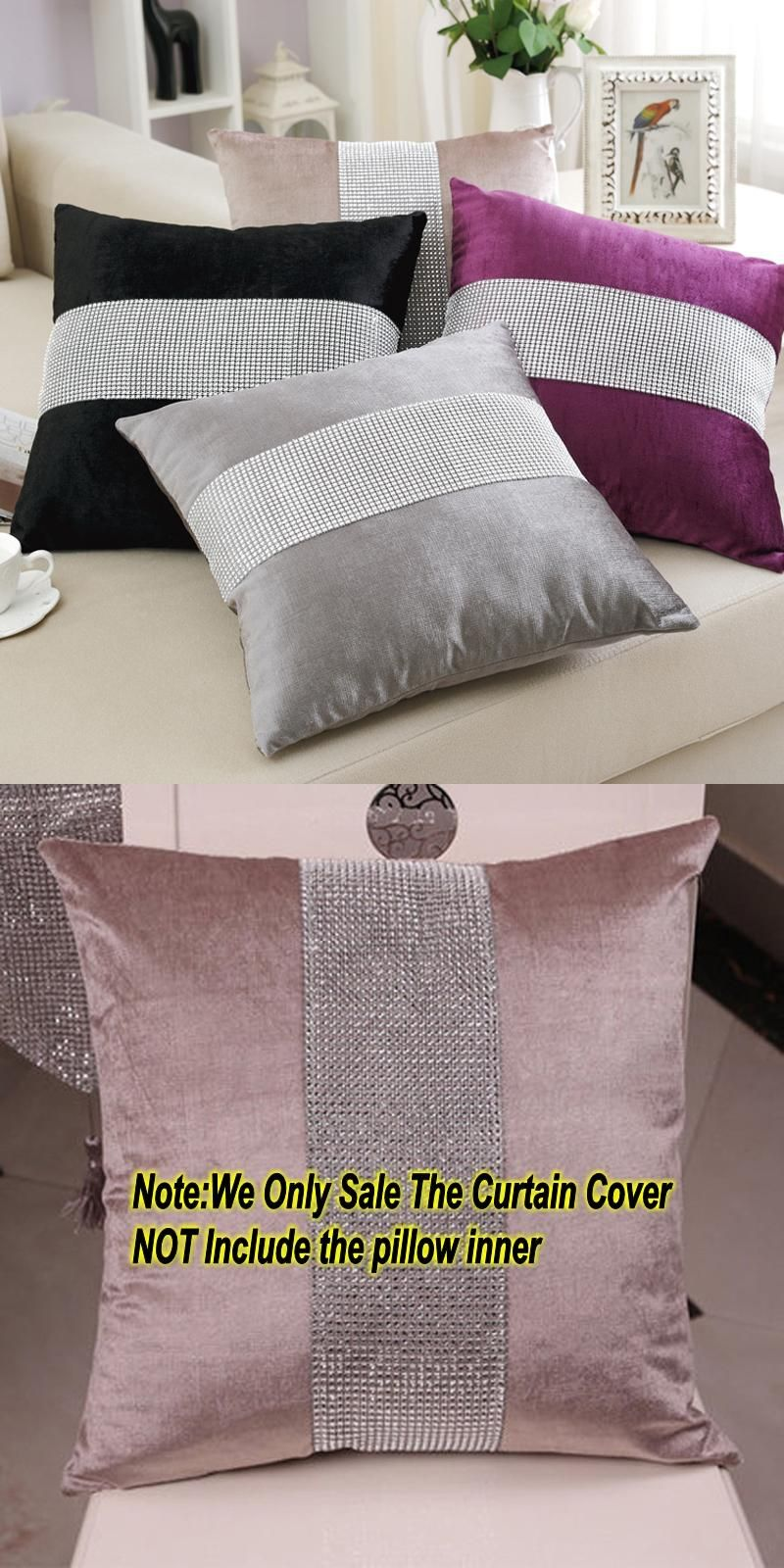 Visit To Buy 45 45cm Quality Stylish Diamond Velvet Cushion Sofa Bed Pillow Modern Minimalist Hotel Cushion Advertise Cushions On Sofa Bed Pillows