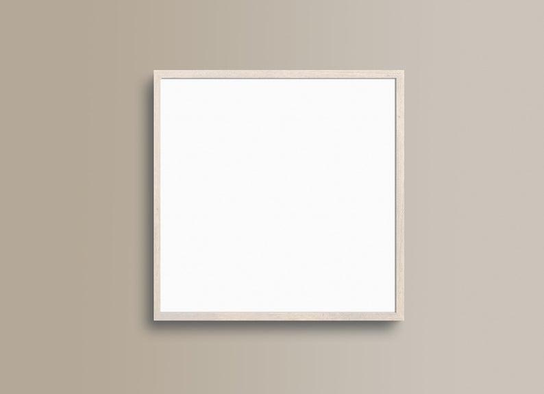 Frame Mockup 230 Beige Wood Square Frame Mockup Styled Thin Frame Mock Up Square Wall Art Display Psd Smart Object In 2020 Frame Mockups Square Wall Art Square Photos