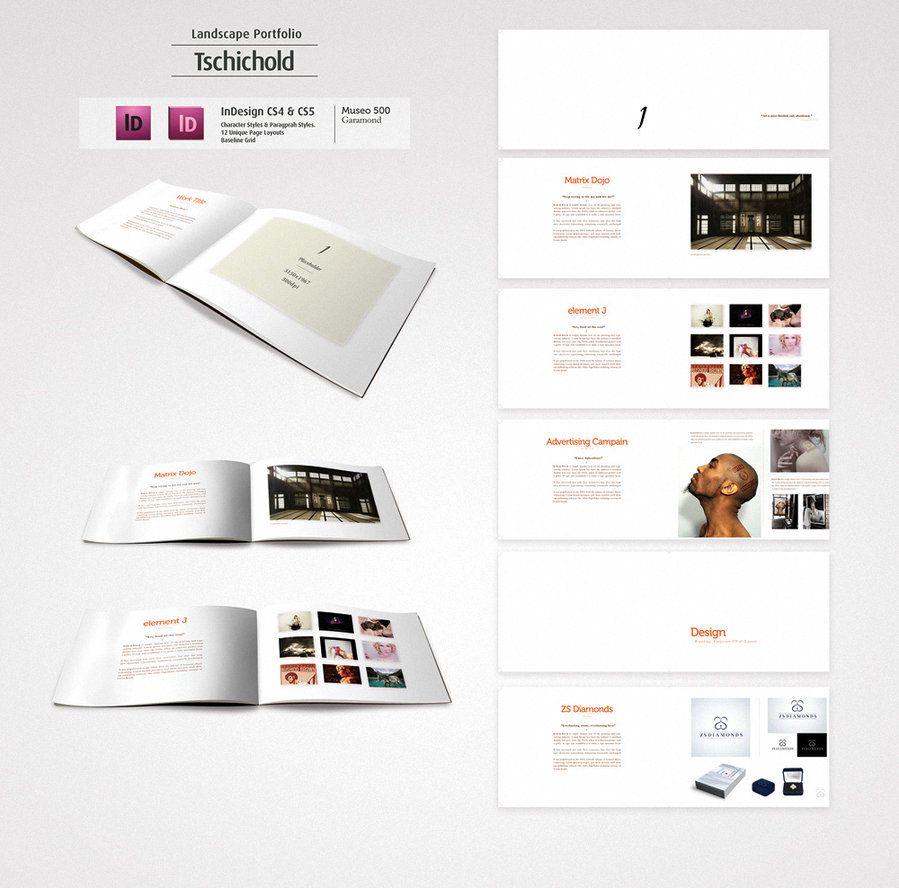 Tschichold Landscape Portfolio Graphic Design Portfolio Book Portfolio Design Portfolio Template Design