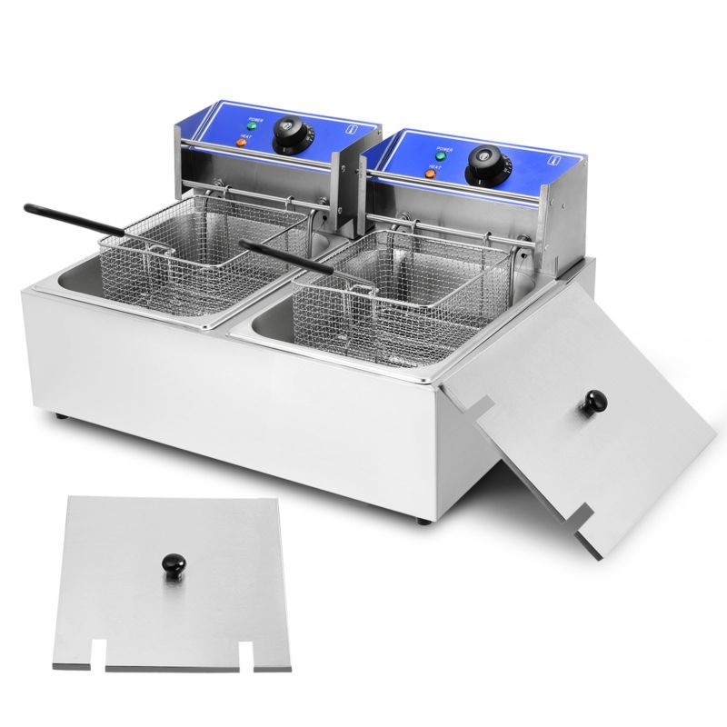 20l Commercial 3000w Restaurant Countertop Deep Fryer Stainless