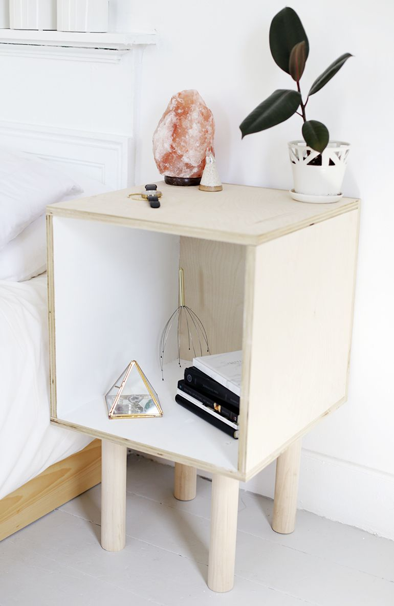 Diy plywood side table cube side table side tables