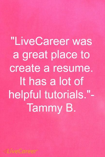LiveCareer Was A Great Place To Create A Resume It Has A Lot Of   Resume  Livecareer Login