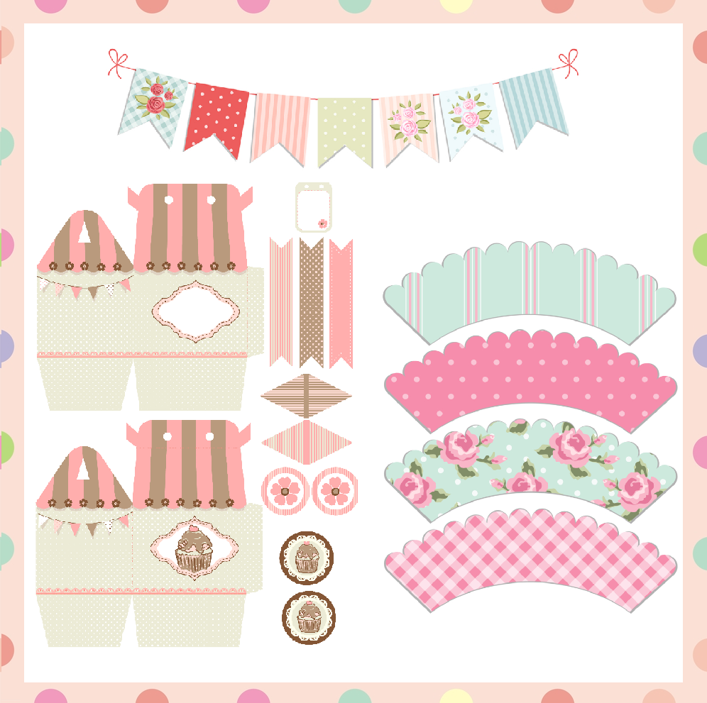 image about Free Printable Cupcake Wrappers identified as Cost-free Printable cupcake wrapper, child shower want box