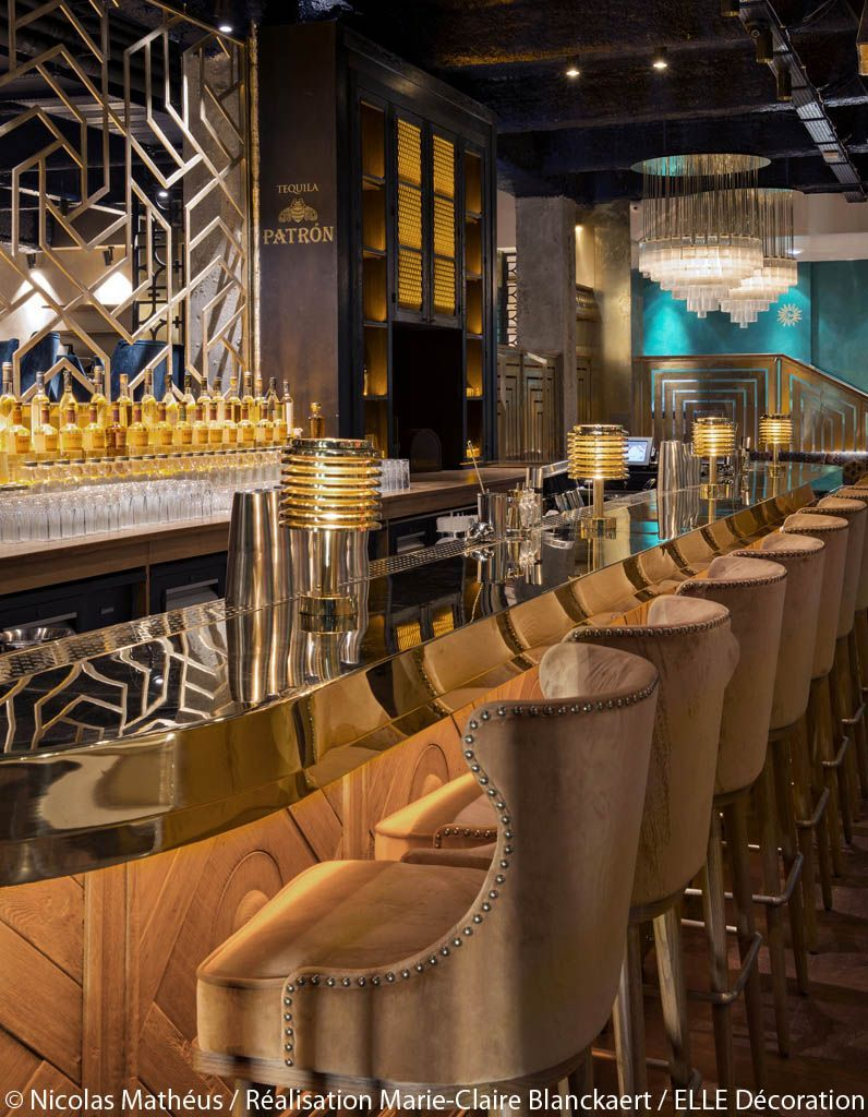 bar-luxe-art-deco-laiton | Architettura & Design | Pinterest