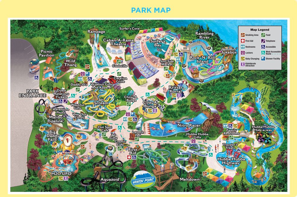 Water Country Usa Park Map Williamsburg Va We Love Water Parks Pinterest Park Water