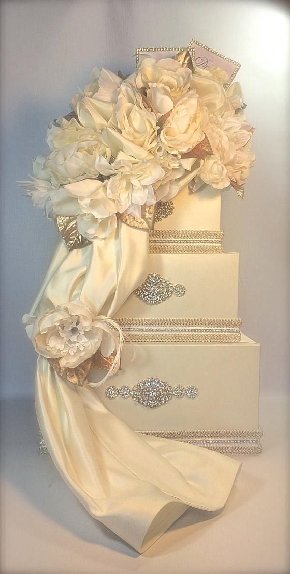 Private Listing for Lily Wedding Money Box Ivory and Gold Secured ...