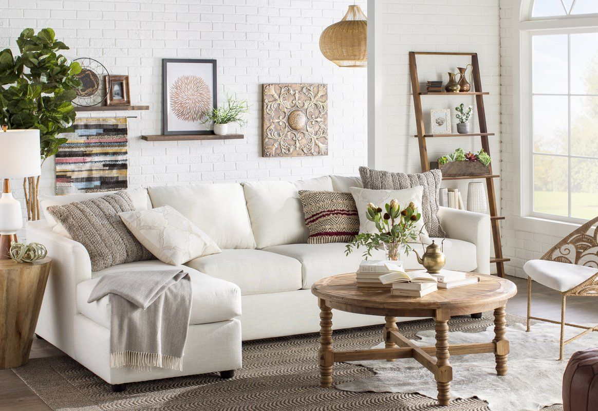 Aldo Ladder Bookcase Traditional Design Living Room Living Room Designs Neutral Living Room [ 800 x 1164 Pixel ]