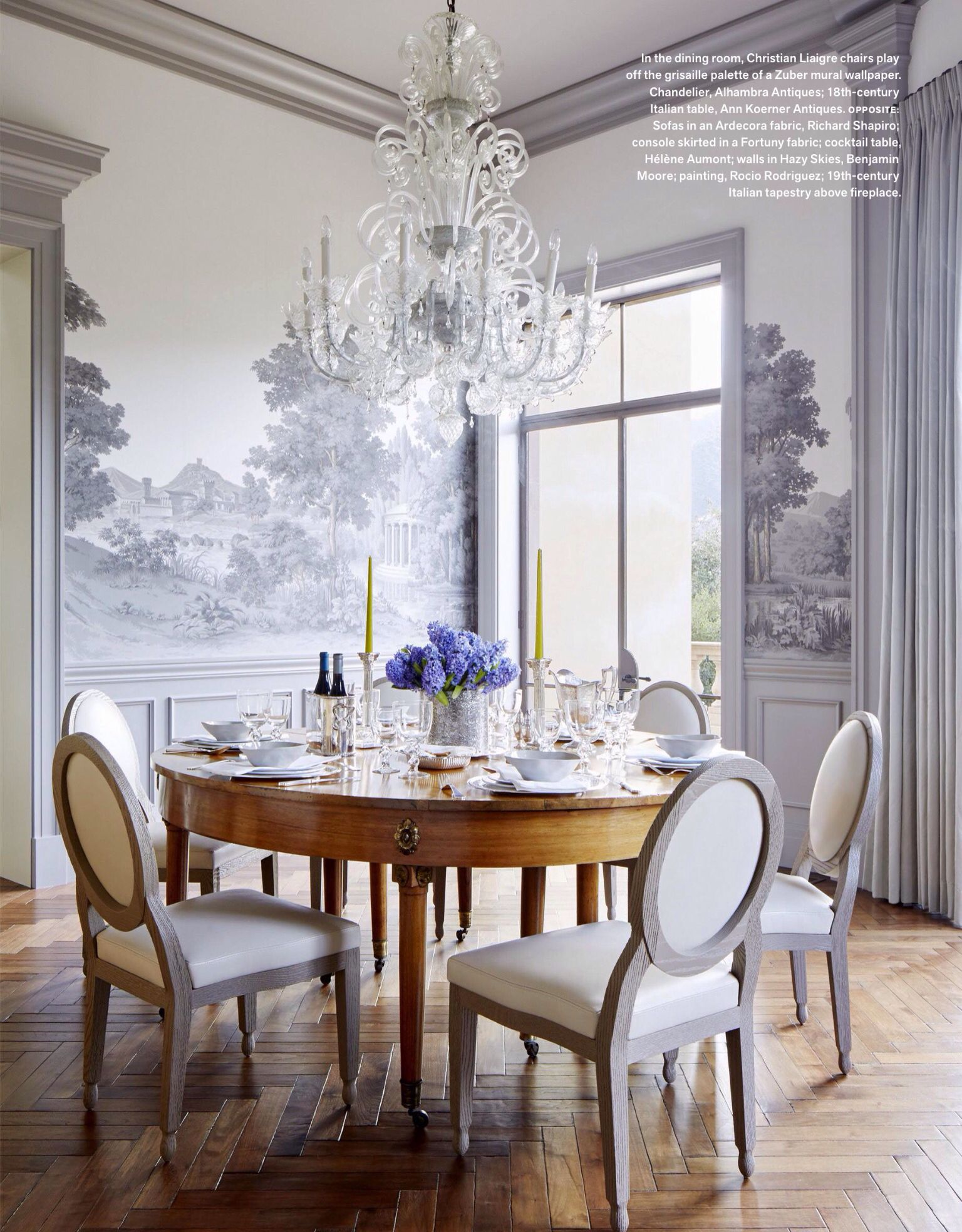 scenic wallpaper Dining room wallpaper