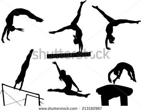 vault gymnastics silhouette. Silhouettes Vault Gymnastics Silhouette C