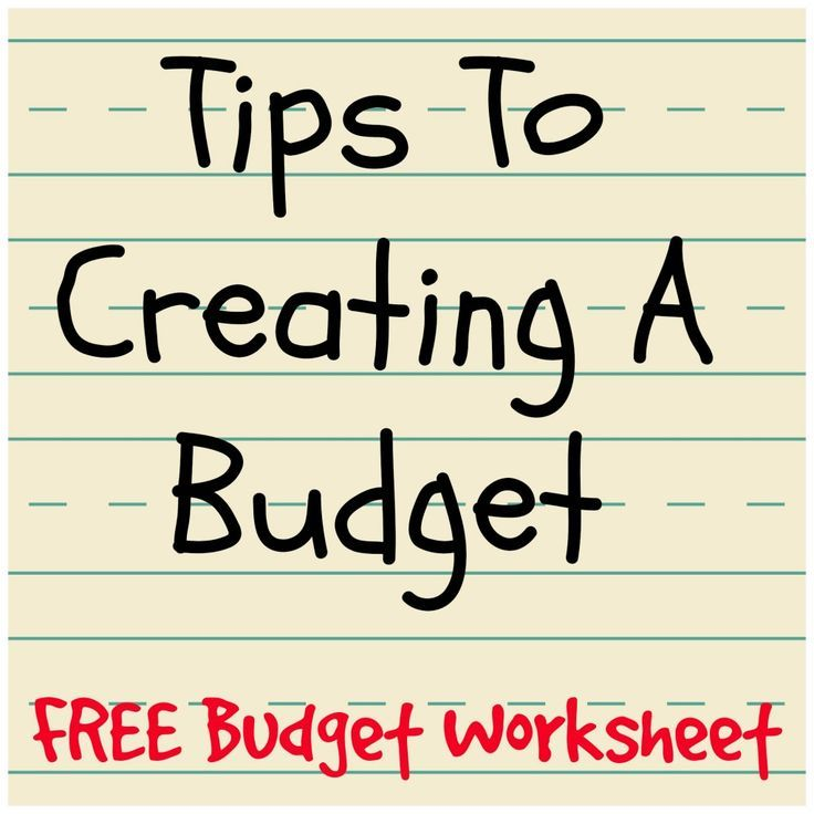 Tips to creating a budget - FREE budget worksheet Personal Finance - camp budget spreadsheet