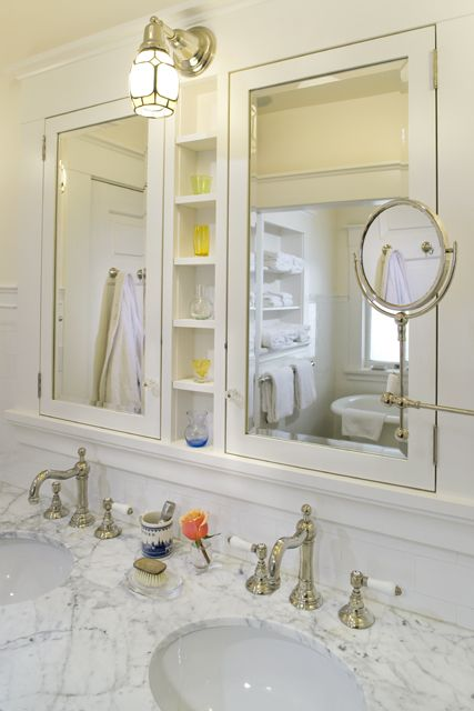 The Vanity Cabinets Provide Plenty Of Storage And Have Electrical