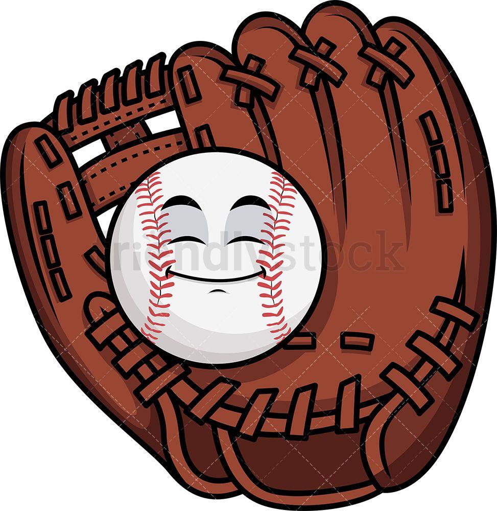Baseball In Catchers Mitts Emoji Cartoon Vector Clipart Friendlystock In 2020 Cartoon Clip Art Cartoons Vector Cartoon