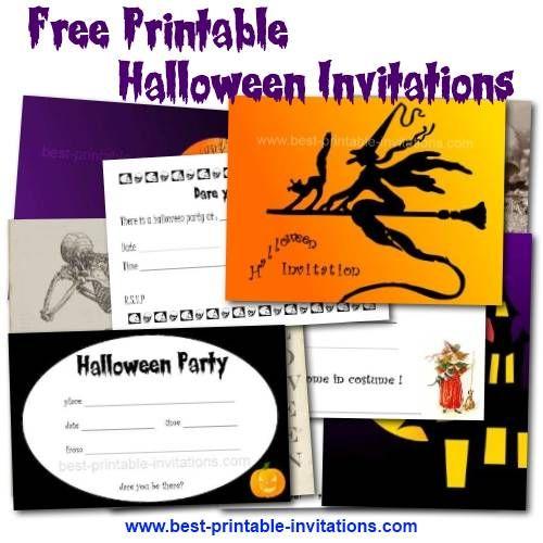 Free printable #halloween #invitations. www.best-printable ...