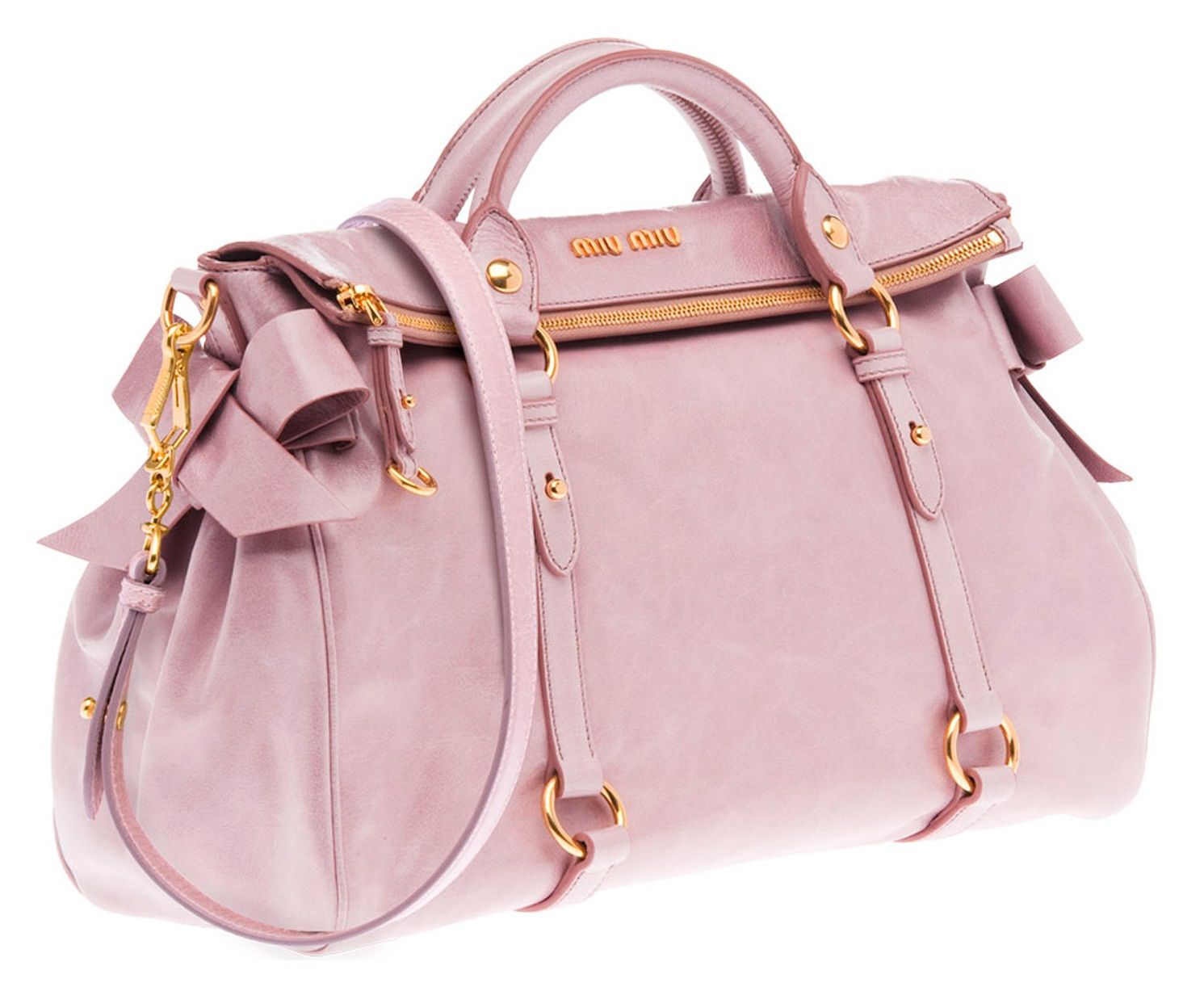 Miu Miu Shiny Calf Top Handle Bag