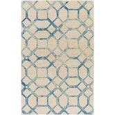 Found it at Wayfair - Organic Brittany Hand-Tufted Teal/Ivory Area Rug