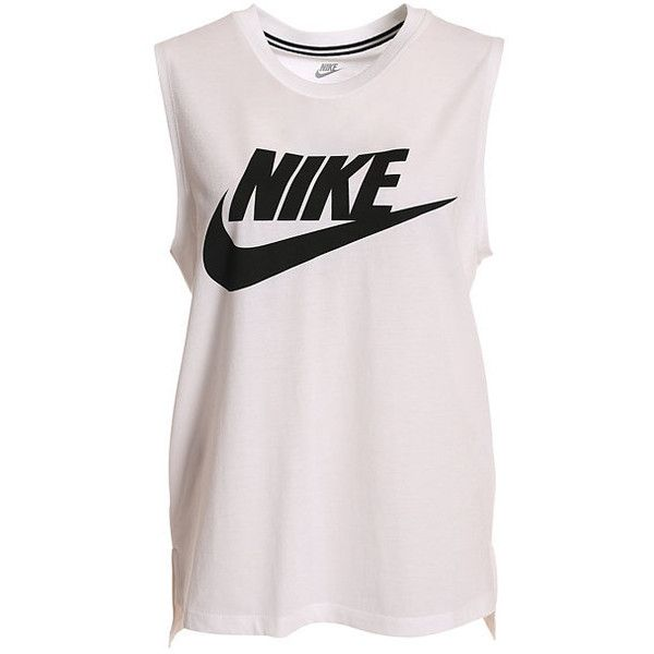 Nike Signal Muscle Tank found on Polyvore featuring tops, pink muscle tank,  pink top