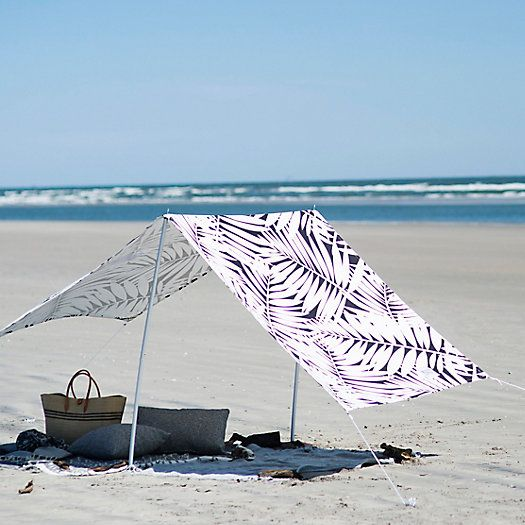 Leaf Silhouette Cotton Canvas Sun Shade Canopy Outdoor