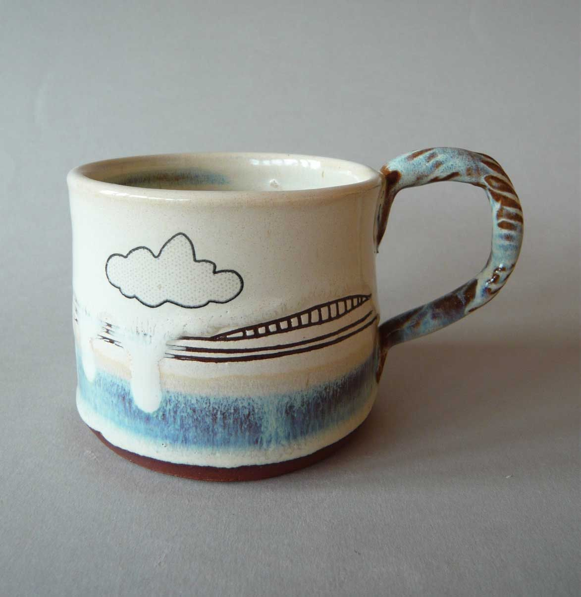 hand modelled ceramic cloud