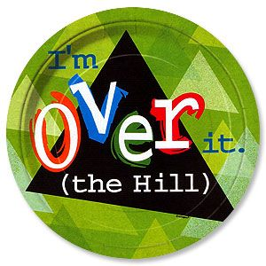 Over the hill birthday clip art of cake and party candles ...