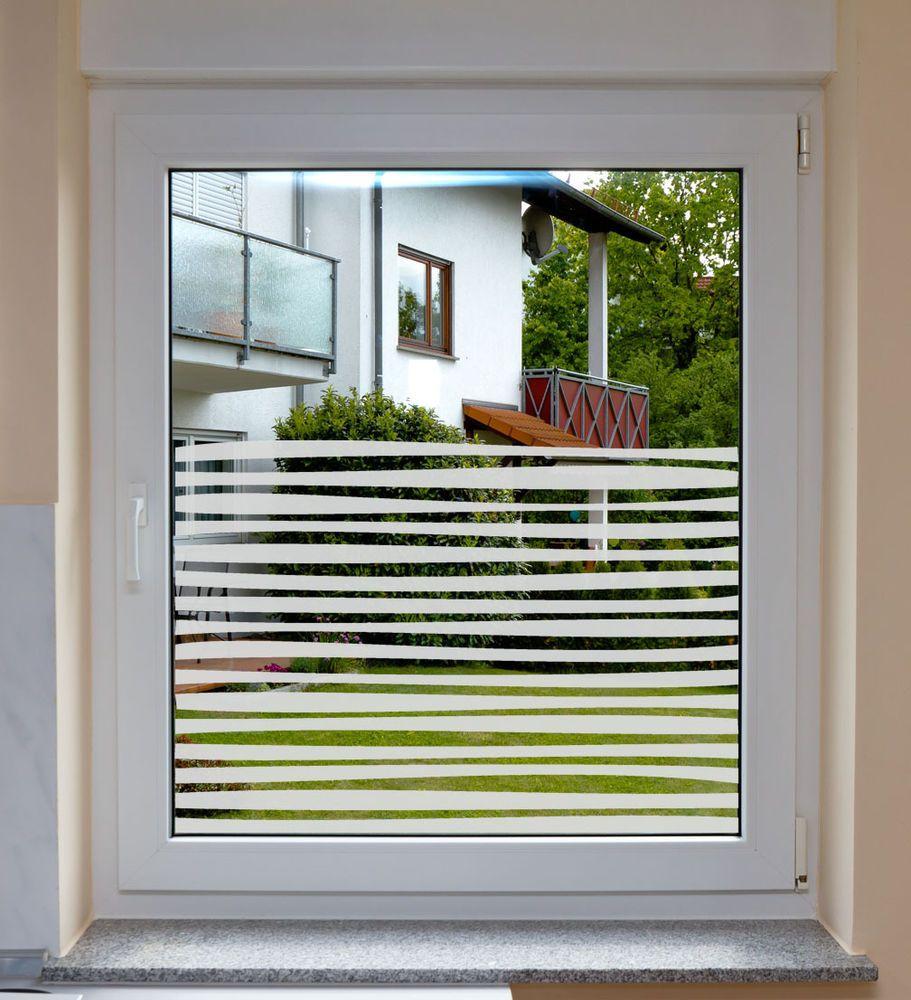 Fensterfolie Sichtschutzfolie Wohnzimmer Kche Bad ArbeitszimmerStripes in Mbel  Wohnen