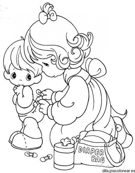 Dibujo De Un Niño Y Su Madre Preciosos Momentos Dibujos Para