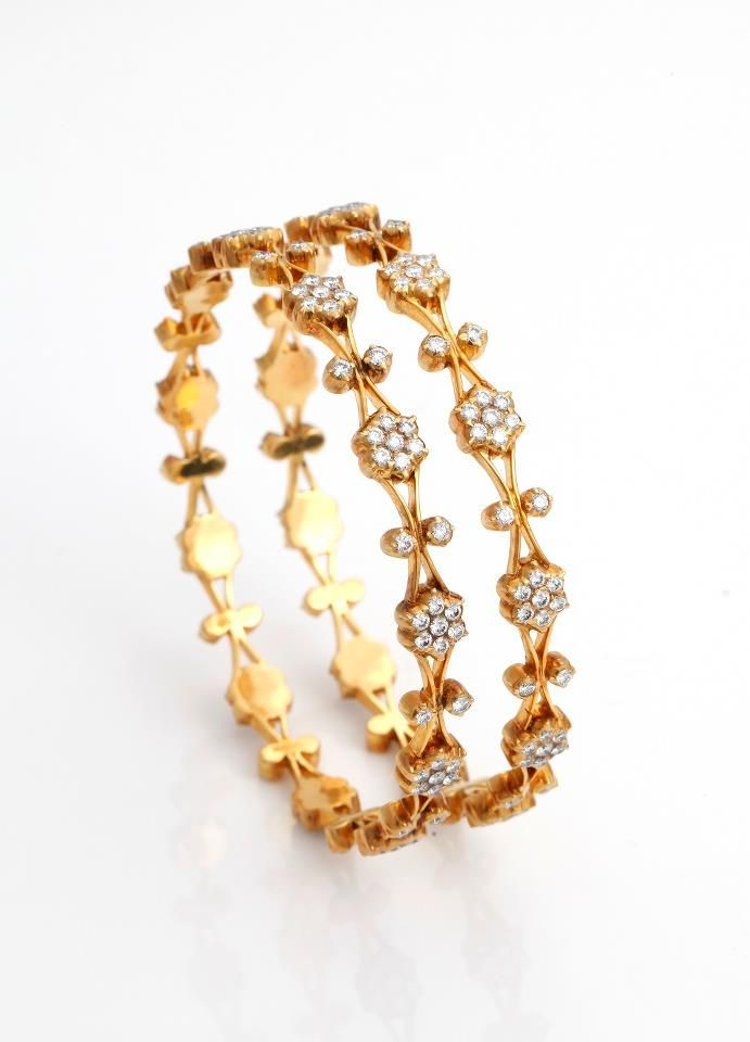 Indian Jewellery and Clothing Beautiful diamond and gold bangles