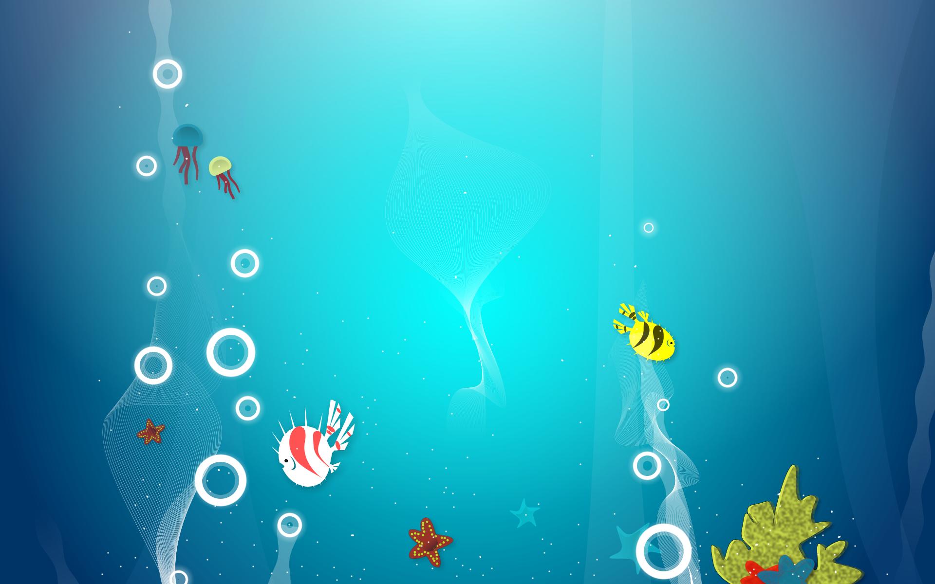 Fish background | Party Ideas | Underwater cartoon ...