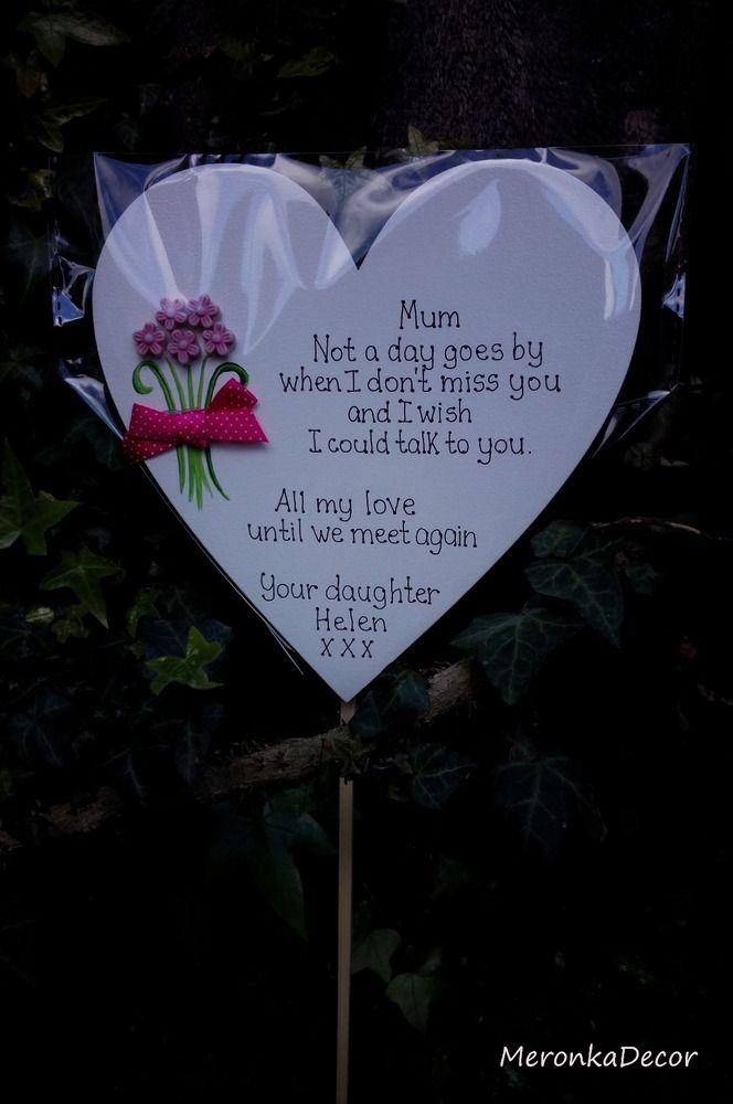Memorial Heart Special Mum Nan Nana Grave Ornament Personalised