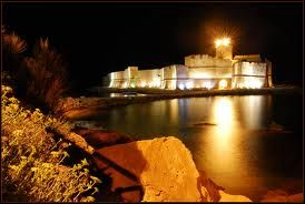 Le Castella by night, Calabria Italy by google search